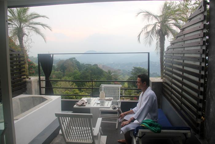 On the Balcony at Theva Residency