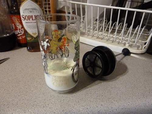 Replacement milk frother glass