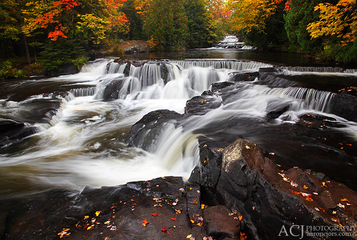 Collectively Falling - Bond Falls by Aaron C. Jors