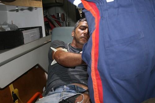 Gonçalo Neto salvo da queda de avião. Foto: Celivaldo Carneiro