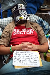 Self Taught Doctor - Occupy Wall Street (Rachel Citron) Tags: newyorkcity democracy politics protest police nypd financialdistrict nytimes coverage activism democrats civildisobedience protesters republicans equality liberals socialchange arrests studentloans homemadesign beautifuldecay ows youthinrevolt thenytimes thelocaleastvillage occupywallstreet occupywallst selftaughtdoctor