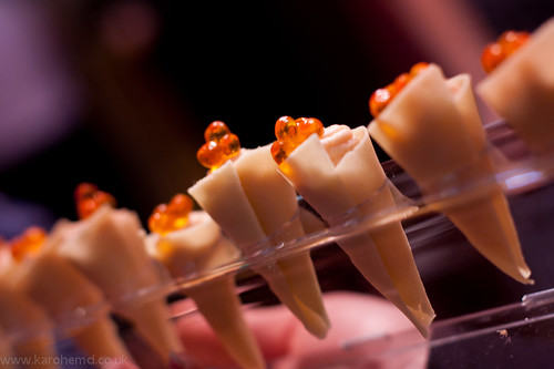 One of the canapes