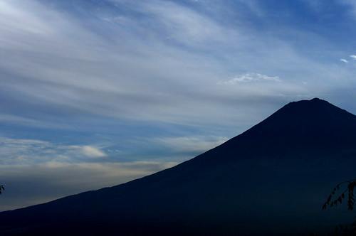 Silhouette of Mt.Fuji