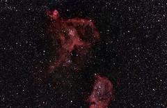 Heart and Soul repro (BudgetAstro) Tags: nikond70 astrophotography astronomy dss cassiopeia 55200mmf456g ic1805 heartnebula soulnebula ic1848 deepskystacker Astrometrydotnet:status=solved heartandsoulnebulae ngc1027 Astrometrydotnet:version=14400 Astrometrydotnet:id=alpha20111172417757