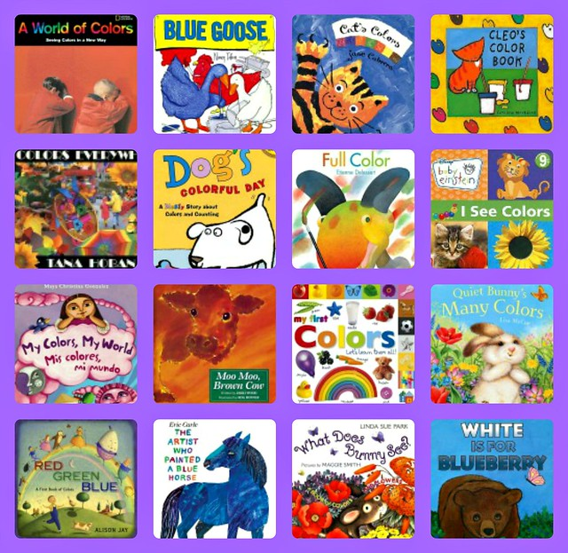 Color books collage