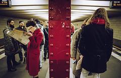 Red (Matteo Zannoni) Tags: life street red color berlin film analog canon underground gold photo metro kodak streetphotography epson pelicula rosso analogica lifeshot berlino pellicola v330