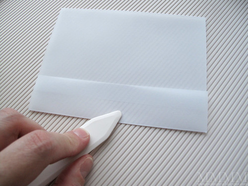 8) Press folds into vellum cardstock