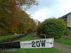 20W (jrw080578) Tags: autumn trees canal lock saddleworth huddersfieldnarrowcanal