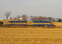 Harvest Fields (JayLev) Tags: ice field corn cornfield farm harvest cp byron dme