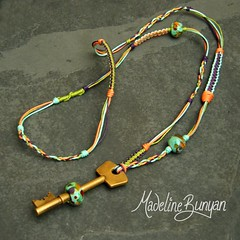 """Purple orange and green Bead on a Key Necklace • <a style=""""font-size:0.8em;"""" href=""""https://www.flickr.com/photos/37516896@N05/6323730448/"""" target=""""_blank"""">View on Flickr</a>"""