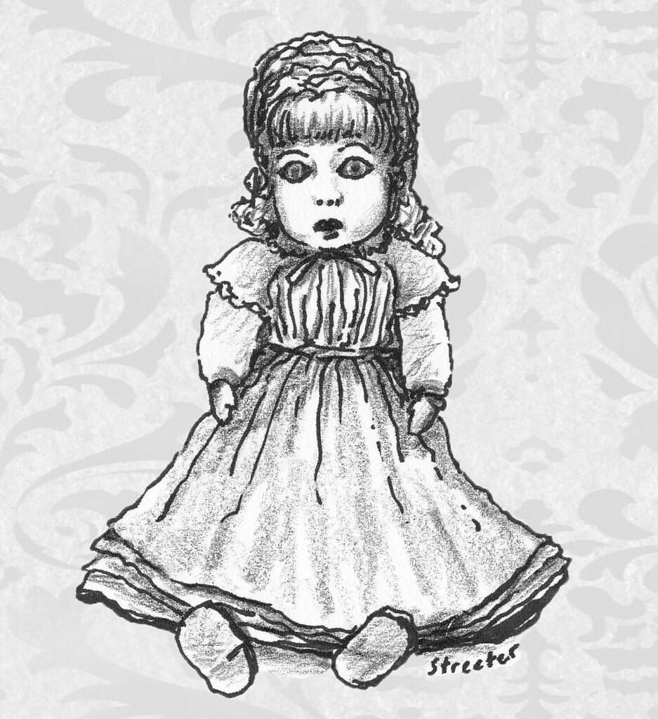 Creepy old fashioned dolls