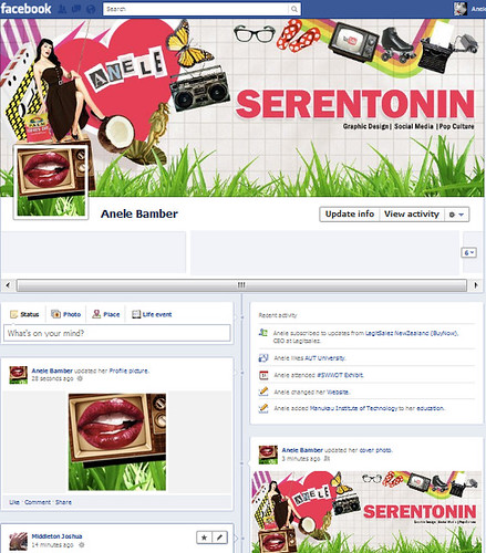 My design created for Facebook Timeline profile