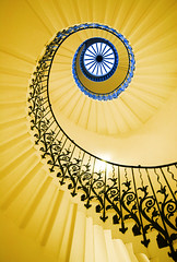 Tulip stairs (Semi-detached) Tags: uk house london geometric lines museum architecture stairs spiral interior curves greenwich architectural queens national maritime tulip