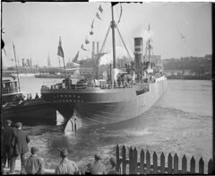 Belgium relief ship SS Lynorta leaves Boston with food for starving Belgians (Boston Public Library) Tags: worldwari soldiers lesliejones