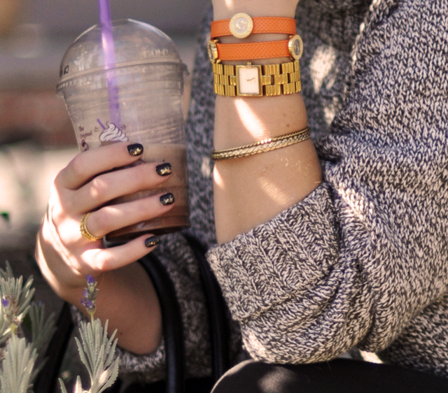 orange leather wrap bracelet -nails-coffee-accessories