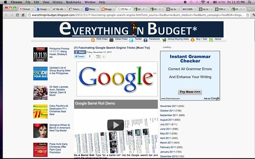everything in budget - google tricks