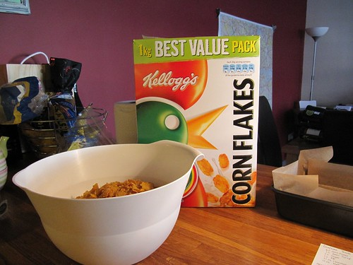 measure the corn flakes