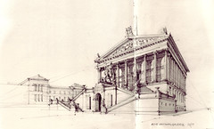 Alte Nationalgalerie (Flaf) Tags: world david berlin heritage museum pencil gallery drawing national florian freie museumsinsel neues alte nationalgalerie classicism classique chipperfield klassizismus flaf afflerbach zeichnerei