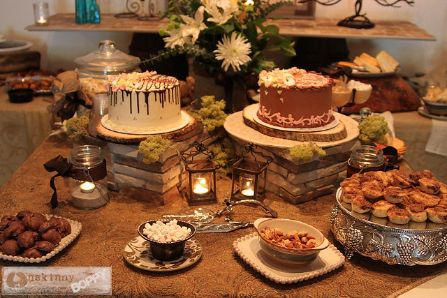rustic elegant wedding shower table decor
