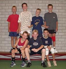 2003 Mini  4 en 5 - Tr. Maike Maathuis - Nieck, Erik, Lourens, Dirk, Jelle, Wouter, Dennis