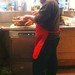 First Church Member, George Caponigro carves Holiday turkey for shelter guests