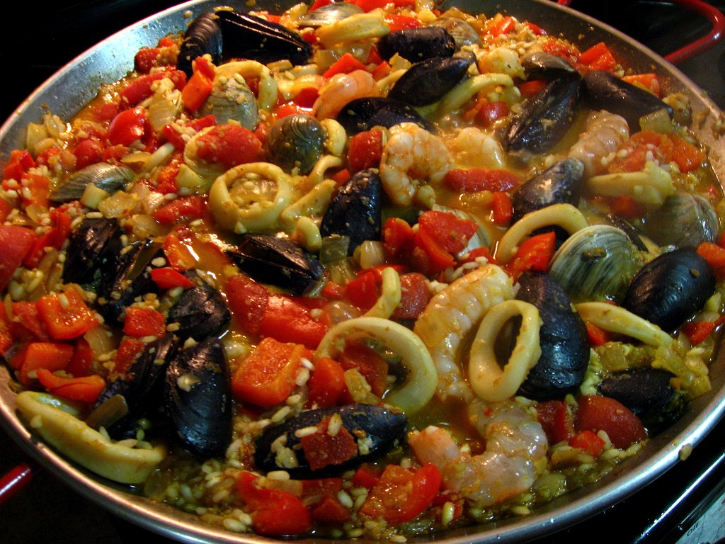 seafood paella adapted slightly from paella paella ingredients 8 oz