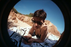 4A (-BerrY-) Tags: sardegna sea party pool night lomography sand berry fisheye amici vacanze brach compleannno