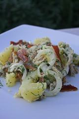 Salade de maquereaux et bacon