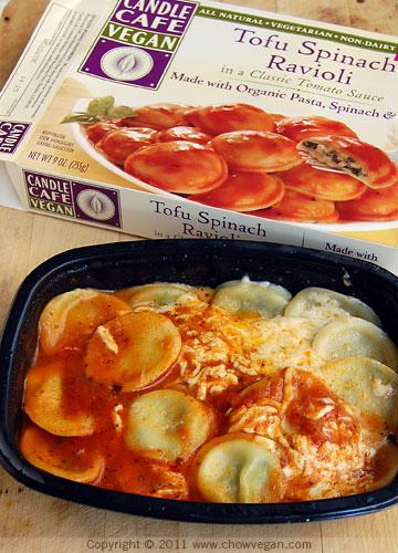 Candle Cafe Tofu Spinach Ravioli
