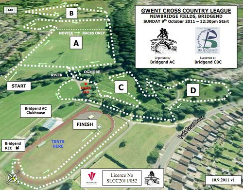 Newbridge fields, Bridgend, cross country course