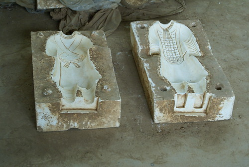 Soldiers molds in Terracotta factory