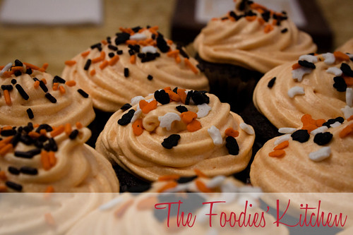 Black Halloween Chocolate Cupcakes