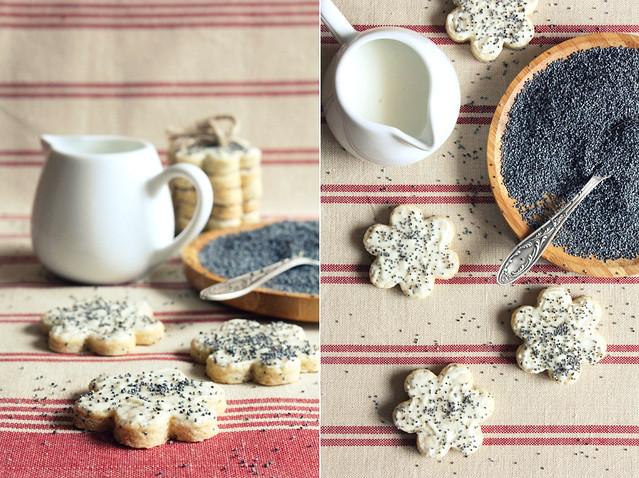 White chocolate&Poppyseeds cookies