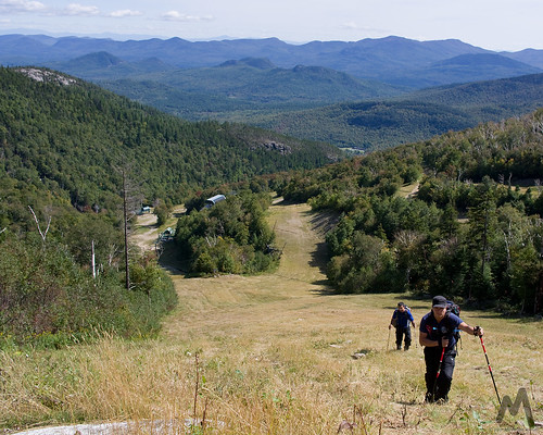 Grassy ski slopes wonderful for hiking