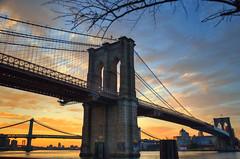 Seaport Sunrise (Mike Czumak) Tags: nyc newyorkcity morning newyork sunrise river nikon brooklynbridge manhattanbridge eastriver seaport d7000