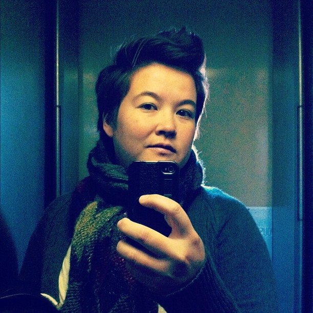 Channelling my inner cupie doll. #selfportrait #elevatorseries #sp
