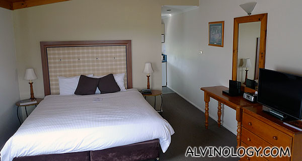 Inside one of the guest rooms