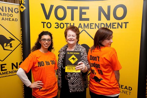 Mary O'Rourke with Volunteers