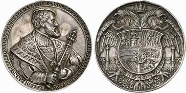 Charles V silver medal Golden Fleece