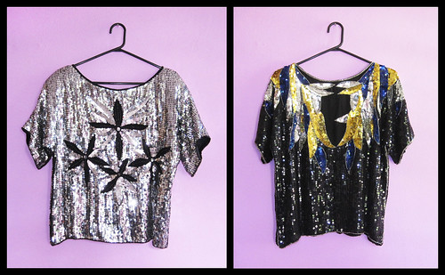Thrifty Finds - The 80's Sequin Tops