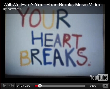 Your Heart Breaks Video for Hollow Earth Radio Newsletter