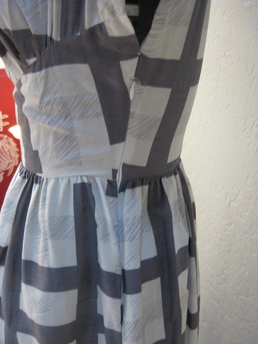 gray ghost dress side view