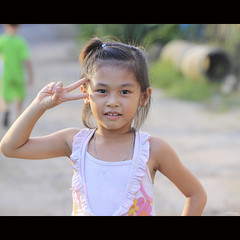 Hello! (-clicking-) Tags: hello portrait cute smile childhood smiling children happy nice asia mood child faces emotion innocent adorable streetphotography happiness streetlife vietnam innocence lovely visage vietnamesechildren