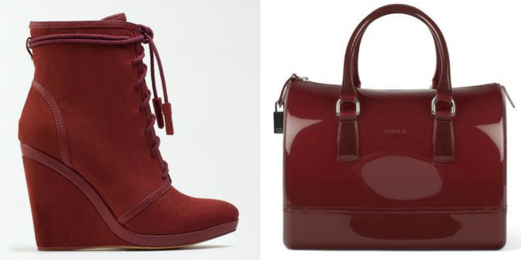 Burgundy BSK and Furla