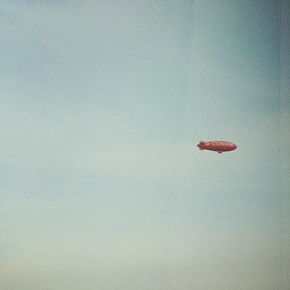 The Conan blimp has arrived in NYC #teamcoco #conan by thismeik