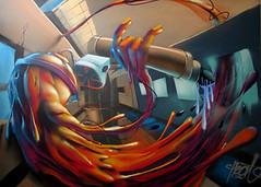 Versus (Fat Heat .hu) Tags: city graffiti montana budapest spraypaint cans coloredeffects fatheat urbantactics