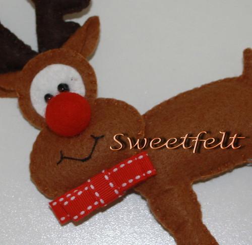 ♥♥♥  Rudolfinha... by sweetfelt \ ideias em feltro