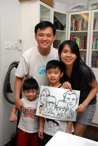 Caricature live sketching for Jonah's birthday party - 18
