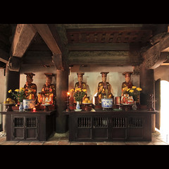 The ancient statues at Kim Lien Pagoda, Hanoi, Vietnam (-clicking-) Tags: lighting old longexposure light architecture pagoda ancient worship asia buddha buddhist faith religion pray praying statues buddhism vietnam placesofworship hanoi oldtime beliefs buddhistic supershot kimlienpagoda ancientstatues vietnamesearchitecture chùakimliên