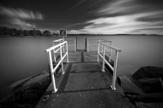 Don't (- David Olsson -) Tags: longexposure blackandwhite bw lake water monochrome warning landscape concrete mono pier nikon rocks sweden sigma karlstad le ladder nodiving 1020mm polarizer midday vnern cpl vrmland lcw polarizingfilter ndfilter lakescape smoothwater skutberget whiterailing d5000 davidolsson nd500 lightcraftworkshop 2exposuremanualblend ginordicoct